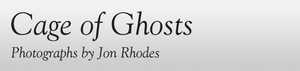Cage of ghosts exhibition banner