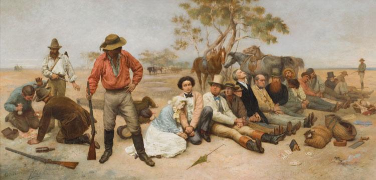 Bushrangers, Victoria, Australia 1852 (detail)