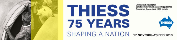 Thiess exhibition banner