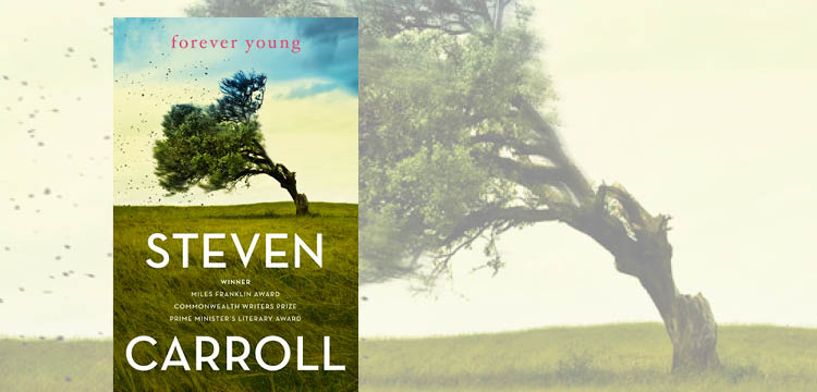 Cover image of Forever Young book and tree blowing in breeze