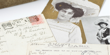 Postcards, photos and letters