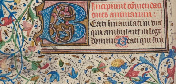 (Detail) The Commendation of Souls in Book of Hours c. 1450