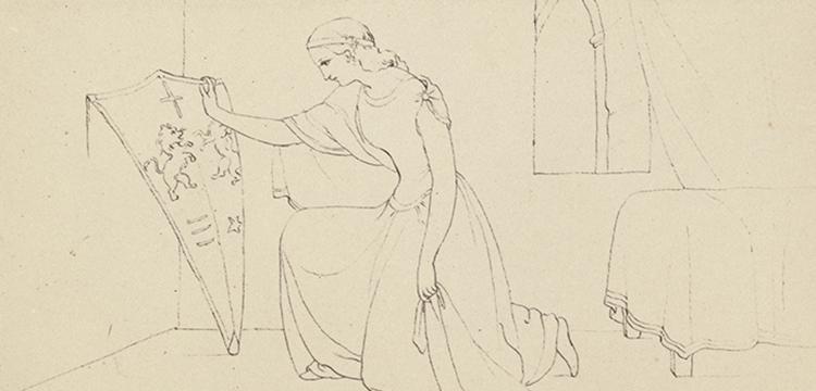 Sophia Sinnett, Plate III in 'Illustrations to the Idylls of the Kings', c.1870