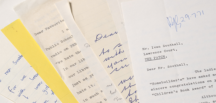 'Correspondence with Readers, 1970-1972' in 'Papers of Ivan Southall, 1914-2009', MS 5379