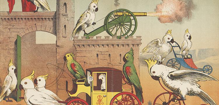 F. Appel, 'Robert Abdy et ses Kakatoes', 1890