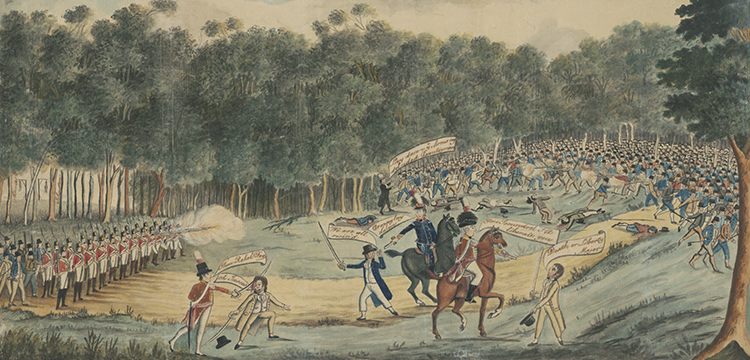 'Convict Uprising at Castle Hill', 1804