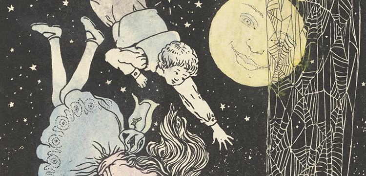 Edith Alsop, illustration in 'The Cobweb Ladder' by Joice Nankivell and Edith Alsop, 1916
