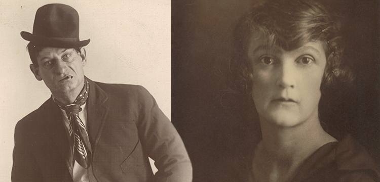 May and Mina Moore, 'Portrait of an Unidentified Actor as the Character Dave in 'Dad and Dave', c.1920; May Moore, 'Portrait of Dulcie Deamer', c.1920