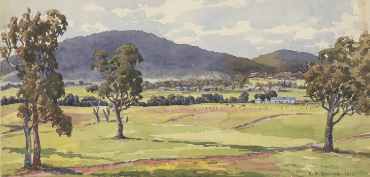 Image: Rolland, H. M. (1913). Canberra; looking north from site of existing West Block. https://nla.gov.au/nla.cat-vn1573610