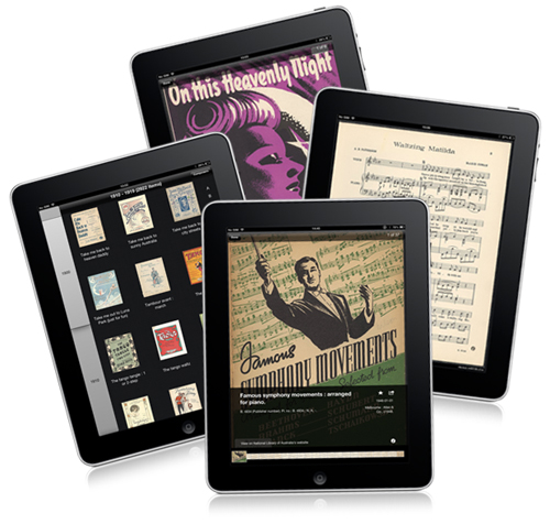 Sheet music in the NLA's Forte app