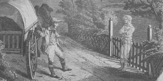Illustration of Frederick Fisher's ghost by John Lang