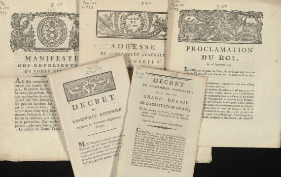 Selected items from the French Revolutionary Pamphlet collection.