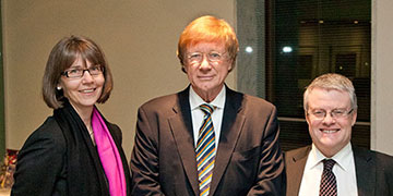 National Library of Australia Director-General Anne-Marie Schwirtlich AM, Kerry O'Brien and Gary Kent at the 2012 Kenneth Myer Lecture