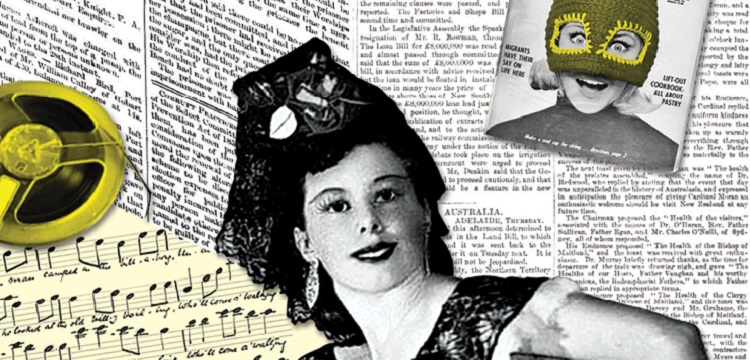 Collage of magazine and newspaper images