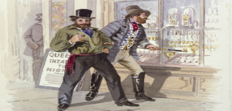 S. T. Gill (1818-1880) Improvident diggers in Melbourne, 1869, watercolour, State Library of Victoria. Painted in 1869