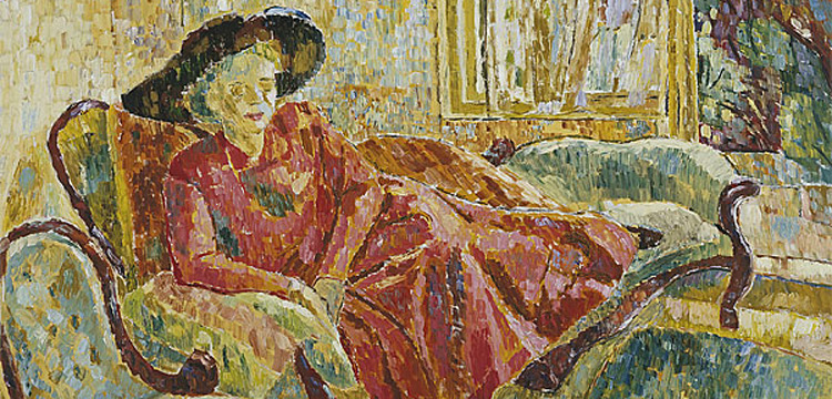Grace Cossington Smith's painting 'Enid on the Sofa', 1957