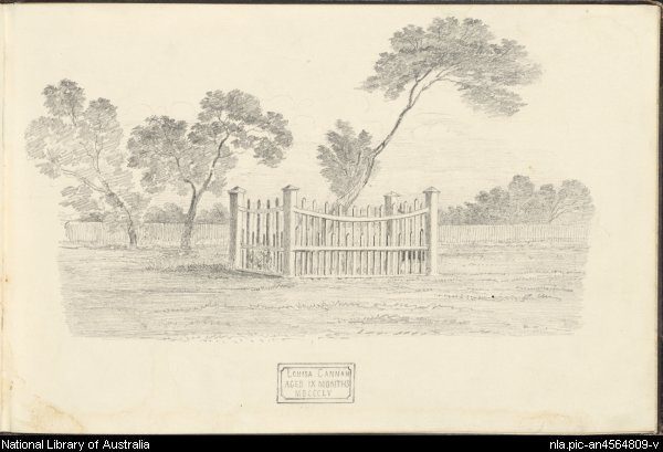 Grave of Louisa Cannan, Melbourne, 1856