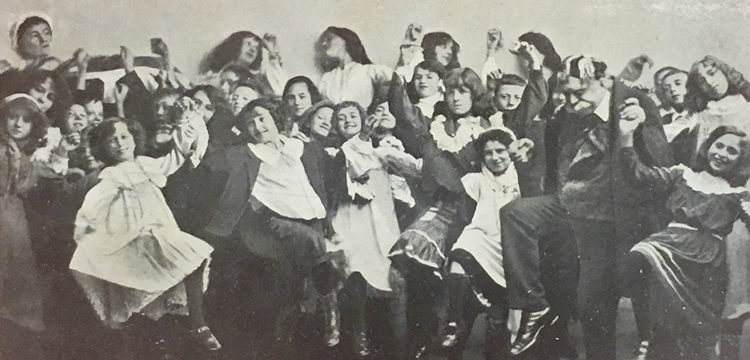 Cast of child actors in 'The Fatal Wedding' (c. 1907) from the cover of 'Josephine My Jo' sheet music, nla.cat-vn2209101