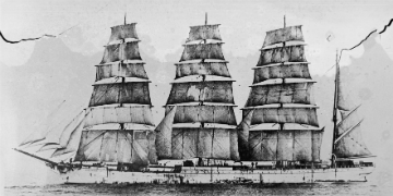 Image of an old sailing ship
