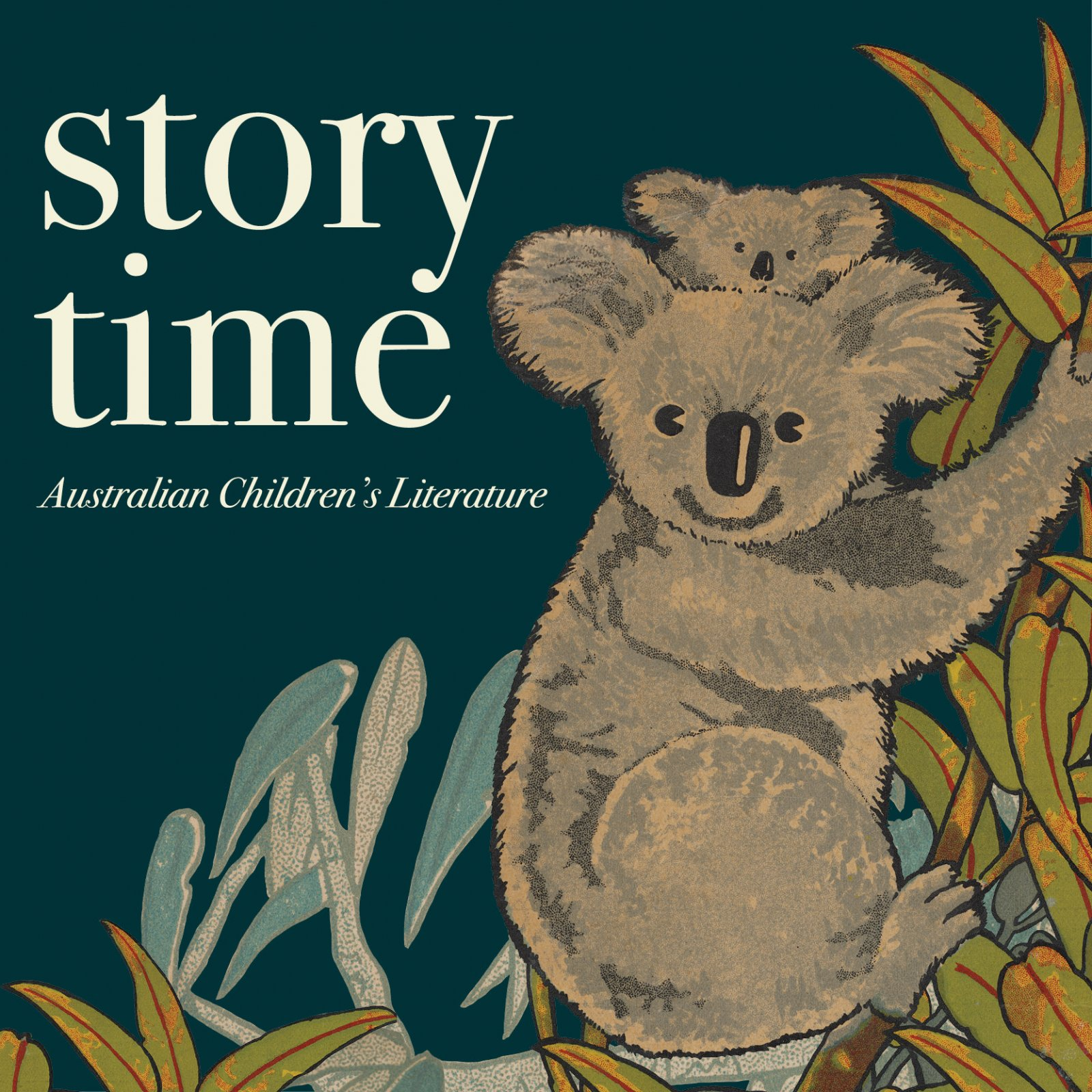 Story Time banner with koala illustration