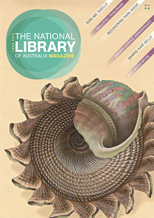June 2015 Magazine cover featuring a painting of a sea shell