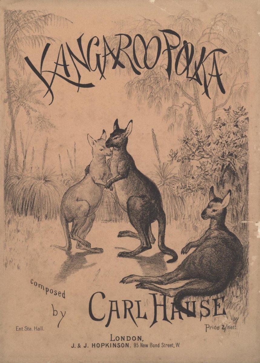 Hause, Carl.  (1886).  Kangaroo polka.