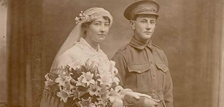 Wedding Portrait of Kate McLeod and George Searle 1915