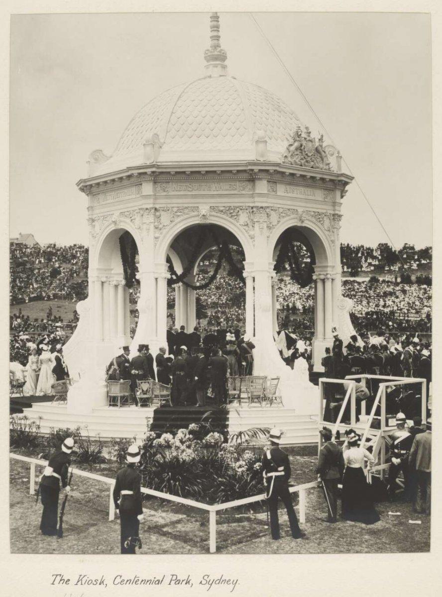 The Kiosk, Centennial Park, Sydney, 1901