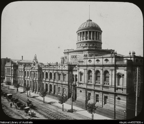 Law courts Melbourne ca 1892