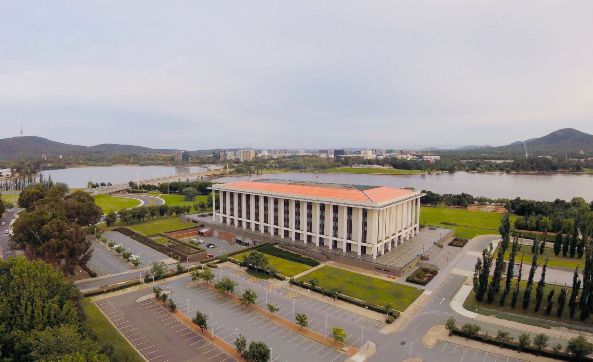 Aerial image of the National Library