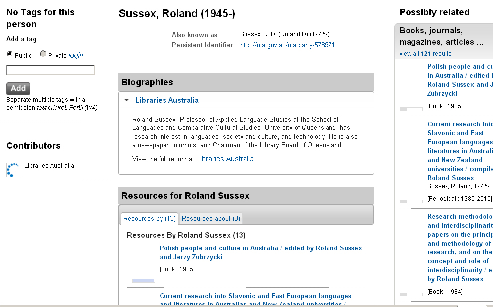 Trove search results for Roland Sussex