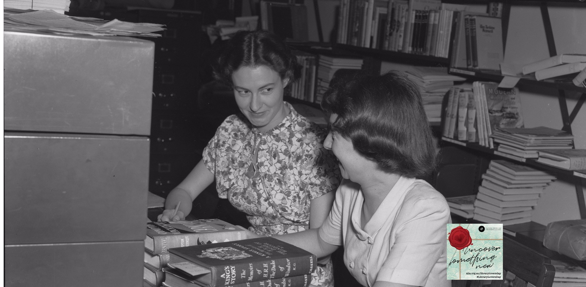 Librarians at Newcastle City Library, Newcastle, New South Wales, 27 November 1951