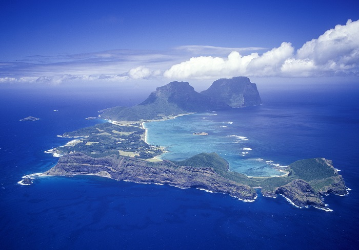 Aerial photograph of the Lord Howe Island Group