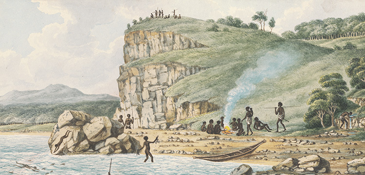Drawings of Aborigines and Scenery