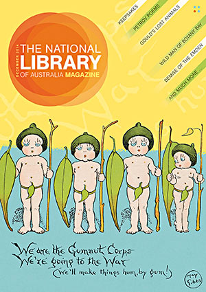 May Gibbs' Gumnut Babies featured on the cover of the December 2014 magazine