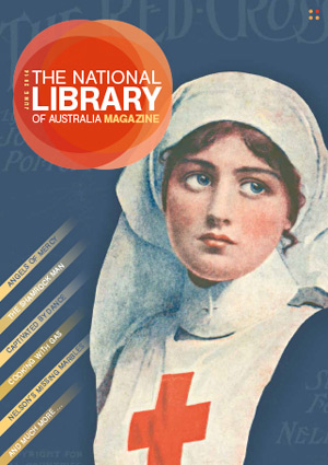Red Cross nurse featured on the cover of the National Library of Australia Magazine