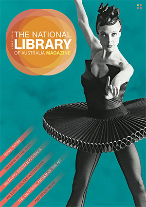 The National Library of Australia Magazine cover featuring ballet dancer Justine Summers