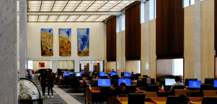 The Main Reading Room at the National Library of Australia