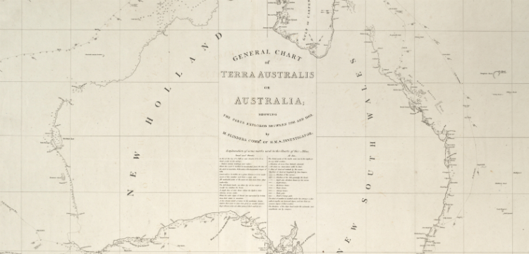 Matthew Flinders' map of Australia