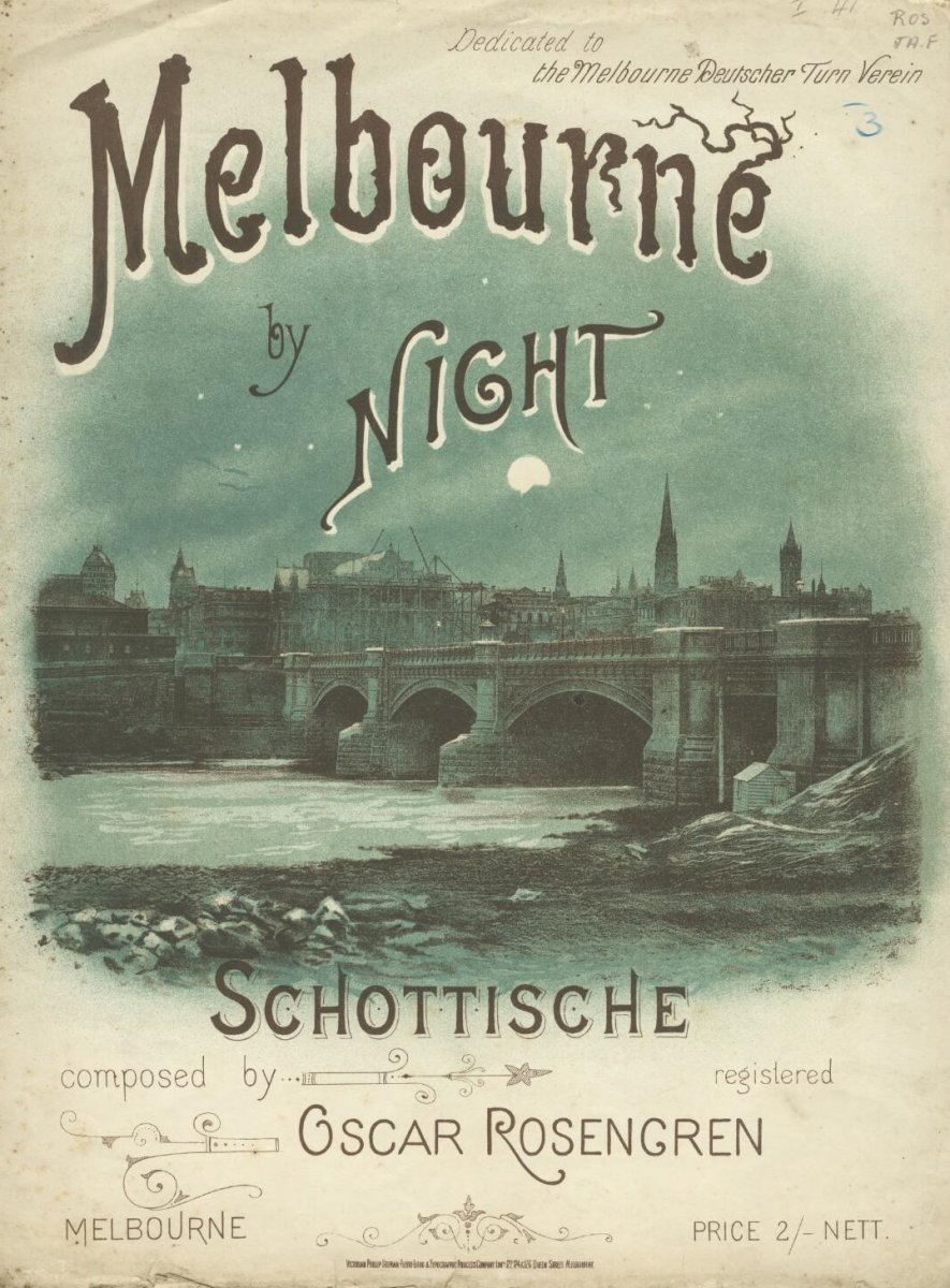 Melbourne by night: Schottische sheet music