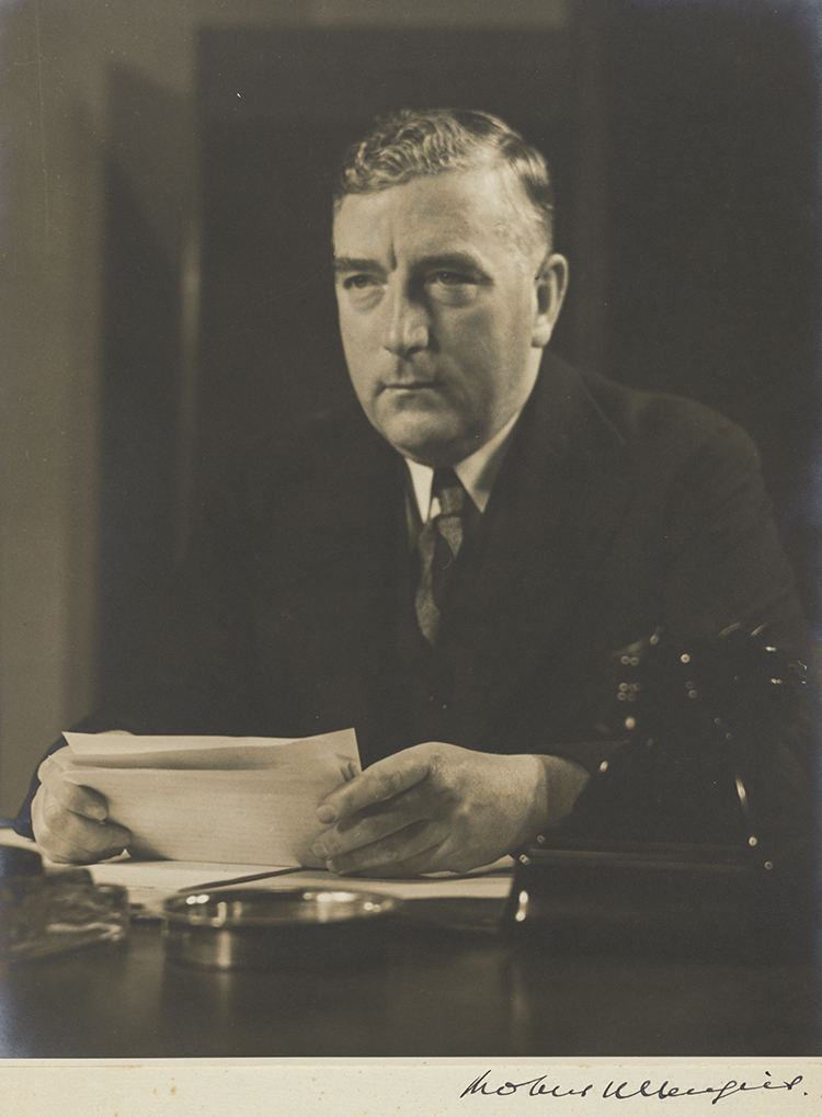 Prime Minister Robert Menzies giving his 1939 national broadcast