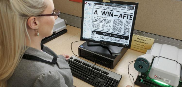 Using microfilm readers