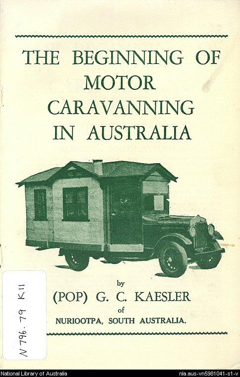 The beginning of motor caravanning in Australia