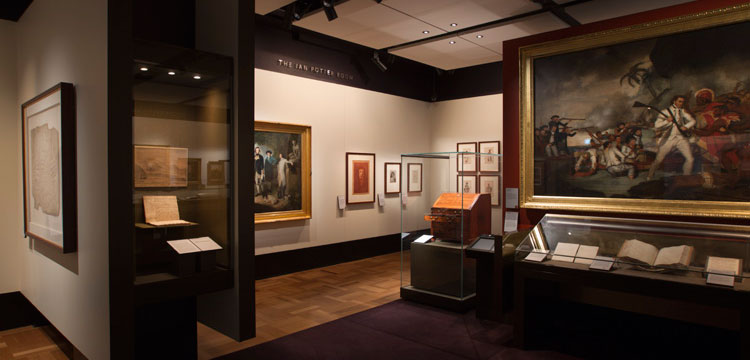 Photograph of Treasures Gallery exhibition space