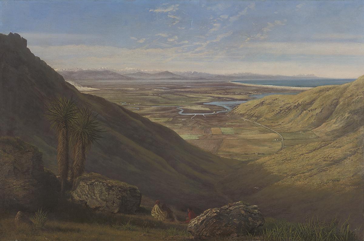 Painting of Canterbury Plains, New Zealand