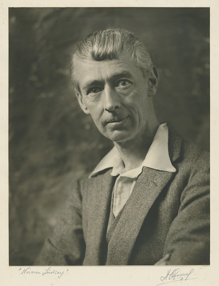 Harold Cazneaux, Portrait of Norman Lindsay, 1931, nla.cat-vn464338, courtesy Sally Garrett on behalf of the Cazneaux Family