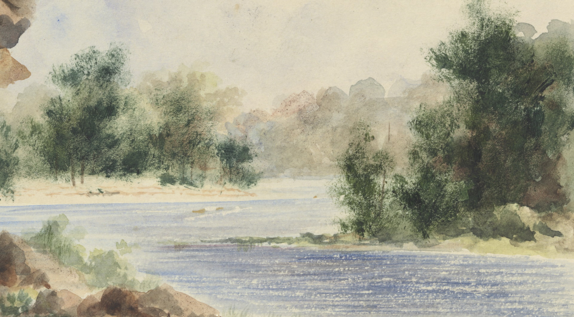 Clarence River, near Dr. Dobie's, New South Wales, c.1848