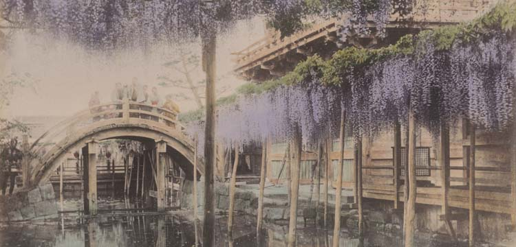Photo from Japanese photo album of Japanese bridge