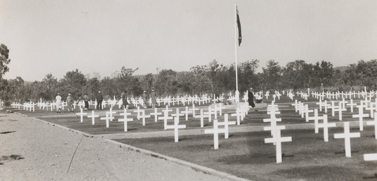 Graves at Adelaide River war cemetery, Northern Territory, ca. 1946
