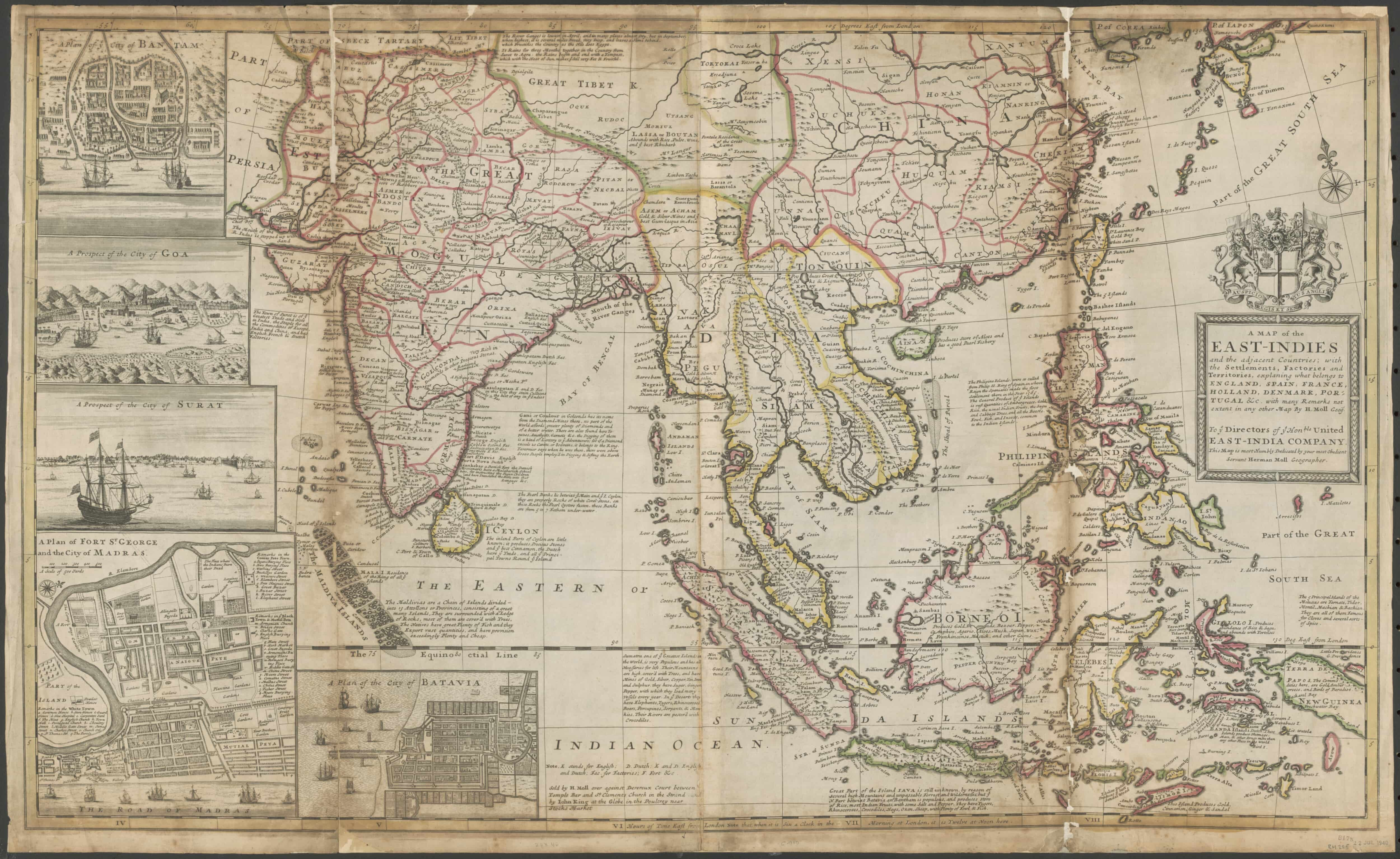 The Vereenigde Oostindische Compagnie National Library Of Australia - Portugal england map
